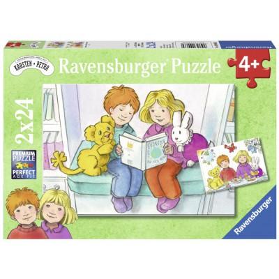 Ravensburger-09066 2 Jigsaw Puzzles - Karsten and Petra
