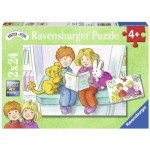 Ravensburger-09066 2 Jigsaw Puzzles - Karsten and Petra