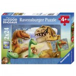 Ravensburger-09079 2 Jigsaw Puzzles - The Good Dinosaur
