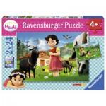 Ravensburger-09091 2 Jigsaw Puzzle - Heidi