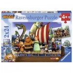Ravensburger-09094 2 Jigsaw Puzzles - Wickie