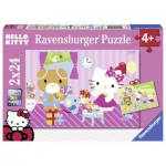 Ravensburger-09101 2 Jigsaw Puzzle - Hello Kitty