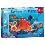 Ravensburger-09103 2 Jigsaw Puzzles - Finding Dory