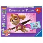 Ravensburger-09152 2 Jigsaw Puzzles - Paw Patrol