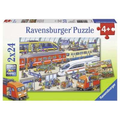 Ravensburger-09191 2 puzzles - Agitation at the station