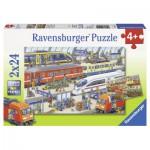 Ravensburger-09191 2 puzzles - Agitation at the station