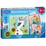 Ravensburger-09245 3 Jigsaw Puzzles - Frozen
