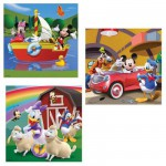 Ravensburger-09247 Jigsaw Puzzles - 49 Pieces each - 3 in 1 - Everybody loves Mickey