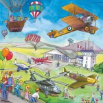 Ravensburger-09273 Jigsaw Puzzles - 49 Pieces - 3 in 1 - On the Road and in the Air
