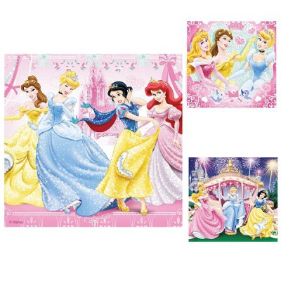 Ravensburger-09277 Jigsaw Puzzles - 49 Pieces each - 3 in 1 - Snow White and her Friends