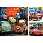 Ravensburger-09281 Jigsaw Puzzle - 3 x 49 Pieces - Square - Cars 2 : Race Around the World