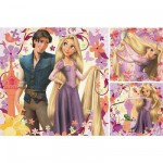Ravensburger-09298 Jigsaw Puzzles - 49 Pieces each - 3 in 1 - Disney : Princesse Rapunzel and Flynn Rider