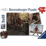 Ravensburger-09303 3 Jigsaw Puzzles - A Bell for Ursli