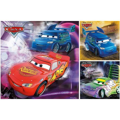 Ravensburger-09305 Jigsaw Puzzles - 49 Pieces each - 3 in 1 - Disneys Cars : On the Road Again