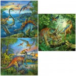 Ravensburger-09317 Jigsaw Puzzle - 3 x 49 Pieces : Dinosaur Fascination