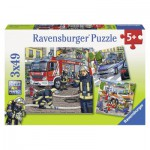 Ravensburger-09335 3 Puzzles - The Rescue