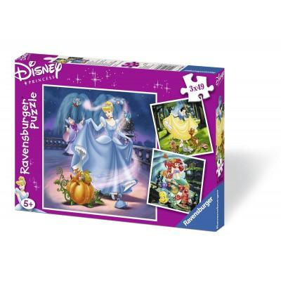 Ravensburger-09339 3 Puzzles - Disney Princesses