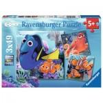 Ravensburger-09345 3 Jigsaw Puzzles - Dory