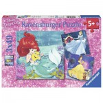 Ravensburger-09350 3 Puzzles - Disney Princess