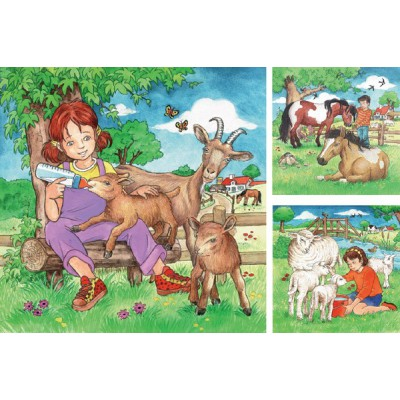 Ravensburger-09351 3 Puzzles - My Favorite Animals