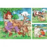 Ravensburger-09351 3 Puzzles - My Favorite Animals