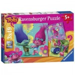 Ravensburger-09364 3 Jigsaw Puzzles - Trolls