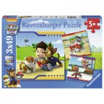 Ravensburger-09369 3 Jigsaw Puzzles - Paw Patrol