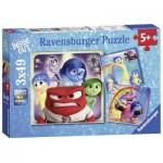 Ravensburger-09370 3 Jigsaw Puzzles - Disney Pixar: Inside Out