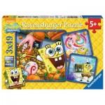 Ravensburger-09384 3 Jigsaw Puzzles - SpongeBob