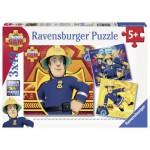 Ravensburger-09386 3 Jigsaw Puzzles - Fireman Sam