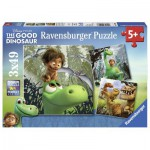 Ravensburger-09406 3 Jigsaw Puzzles - The Good Dinosaur