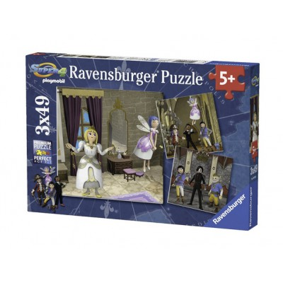 Ravensburger-09408 3 Puzzles - Playmobil