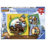 Ravensburger-09409 3 Jigsaw Puzzles - Wickie