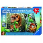 Ravensburger-09410 3 Jigsaw Puzzles - The Good Dinosaur