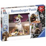 Ravensburger-09413 3 Jigsaw Puzzles - The Secret Life of Pets