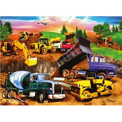 Ravensburger-09525 Jigsaw Puzzle - 60 Pieces - Construction Site