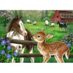 Puzzle  Ravensburger-09625 New Neighbors
