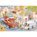 Puzzle  Ravensburger-09641 Firefighter Rescue!