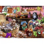 Puzzle  Ravensburger-10031 XXL Pieces - Cats in the Kitchen