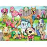 Puzzle  Ravensburger-10041 XXL Pieces - Patchwork Pups