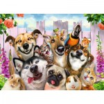 Puzzle  Ravensburger-10045 XXL Pieces - Funny Animal Selfie