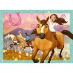 Puzzle  Ravensburger-10055 XXL Pieces - Dreamworks - Spirit Riding Free