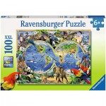 Puzzle  Ravensburger-10540 Animals of the World
