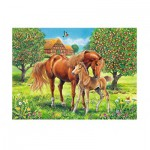 Ravensburger-10577 XXL Jigsaw Puzzle - Horse Happiness in the Meadow