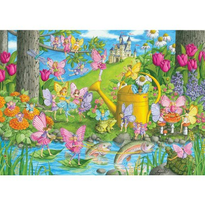 Ravensburger-10602 Jigsaw Puzzle - 100 Pieces - Maxi - The Magical Garden