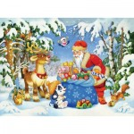 Puzzle  Ravensburger-10654 XXL Pieces - Santa Claus