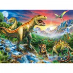 Puzzle  Ravensburger-10665 The time of the Dinosaurs