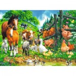 Puzzle  Ravensburger-10689 XXL Pieces - Gathering of animals
