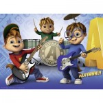 Puzzle  Ravensburger-10712 XXL Pieces - Alvin and the Chipmunks