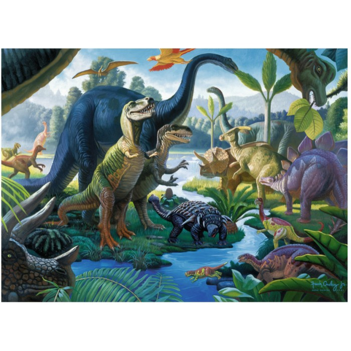 Jigsaw Puzzle - 100 Pieces - Maxi - The Dinosaurs
